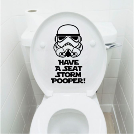 Toilet sticker Star Wars - Storm Pooper - 12x21 cm