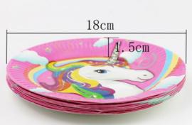 10 stuks unicorn / eenhoorn papieren bordjes