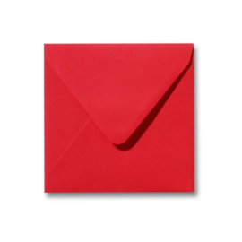 500 stuks enveloppen rood 14x14 cm