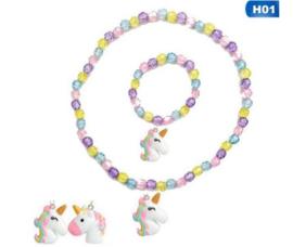 Ketting + armband unicorn