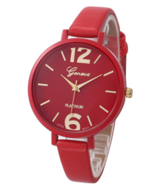 Fashion horloge rood