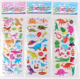 5 stickervellen dinosaurussen