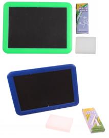 2 stuks krijtbord  inclusief krijtjes en spons