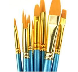 10 stuks aquarel penselen nylon