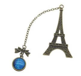 Metalen boekenlegger / bladwijzer Parijs / eiffeltoren