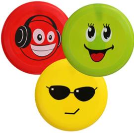 3 stuks Frisbee Smiley 21cm