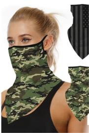 Motor sjaal - motor masker - ski masker - motor gezichtsmasker - ski gezichtsmasker camouflage groen