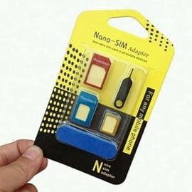 SIM adapter set / 3 stuks + Ejector pin GRATIS bij een bestelling vanaf 10 euro