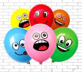 Emoji balonnen 10 stuks