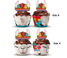 12 stuks cupcake omslagen Alpaca
