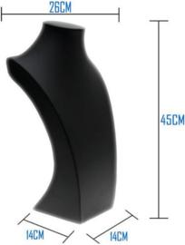 Ketting display zwart lederlook 45 cm hoog