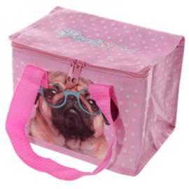 Koeltas - lunchtas roze hond