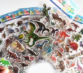 12 velletjes dinosaurus stickers