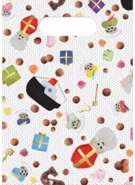 12 stuks sinterklaas feestzakjes 17x23 cm