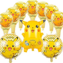 10 stuks helium folie balonnen Pokemon