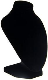 Sieraden display zwart fluweel 16cm hoog