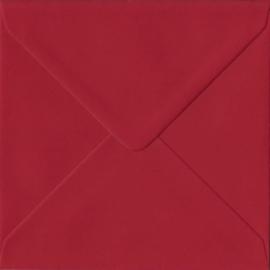 50 stuks vierkante enveloppen rood 14x14 cm