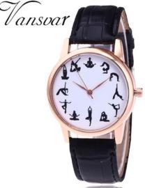 Casual Yoga horloge