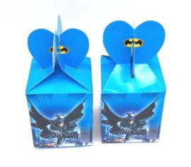 6 stuks kartonnen snoepdoosjes Batman