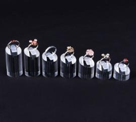 7 delige ringen displays acryl