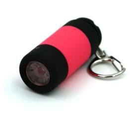 USB oplaadbare mini zaklamp LED aan sleutelhanger