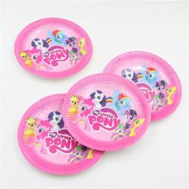 My Little pony verjaardags borden 10 stuks