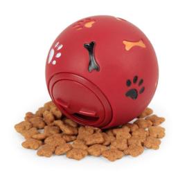 Interactieve voerbal voor honden 75mm - Rood - Bal voor hond - Hondenspeelgoed