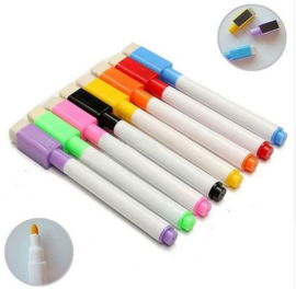 8 stuks magnetische whitebord stiften