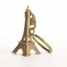 Sleutelhanger Eiffeltoren - Parijs bronskleurig