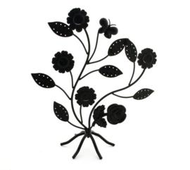 Metalen sieraden rekje bloementjes en blaadjes