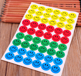 10 velletjes Smiley stickers multi color