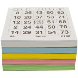 Bingokaarten - Bingo Bloks - Bingo Blokken 5x100