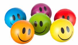6 stuks Smiley ballen 10 cm