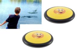 2 stuks Jumpy water stuiter schijf Smiley 8 cm
