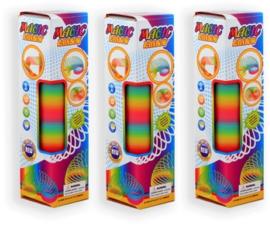 Grote magische regenboog spiraal trapveer 30x8 cm