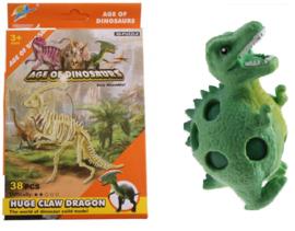 Dinosaurus bouwpakket 38-delig + dinosaurus stressbal 8 cm