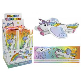 12 stuks eenhoorn / unicorn vliegtuigjes - flyers