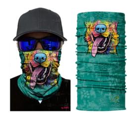 Motor bandana - colsjaal - buff sjaal - motor masker - ski masker - motor gezichtsmasker - ski gezichtsmasker hond
