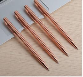 4 stuks RVS balpennen roze/goudkleur