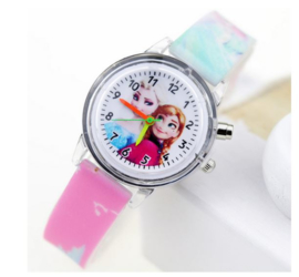 Lichtgevende horloge Frozen - Elsa en Anna