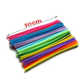 100 stuks chenille draad multicolor
