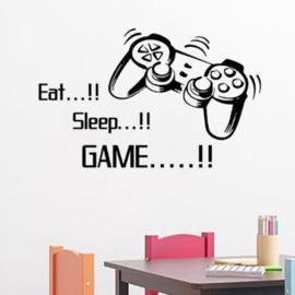 muursticker  | eat-sleep-game