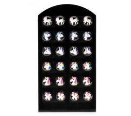 12 paar unicorn - eenhoorn oorbellen inclusief oorbellendisplay