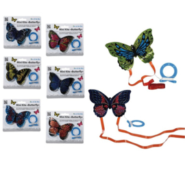 2 stuks mini vliegers vlinder 7x10 cm