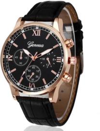 Heren Business Quartz Horloge zwart