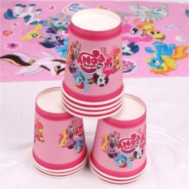 10 stuks kartonnen bekers My Little Pony