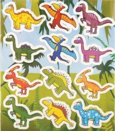 10 velletjes dinosaurus stickers