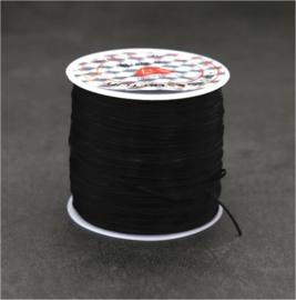 2 rollen elastisch draad zwart 50 meter = 100 meter