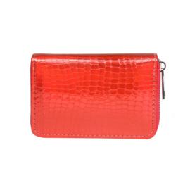 Portemonnee rood metallic