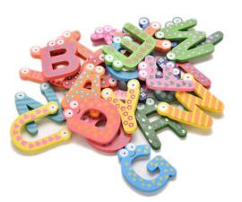 Magnetische houten letters / alfabet 26-delig